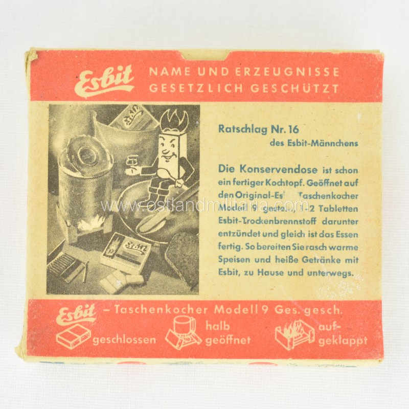 Esbit fuel tablets for field stove Germany 1933–1945
