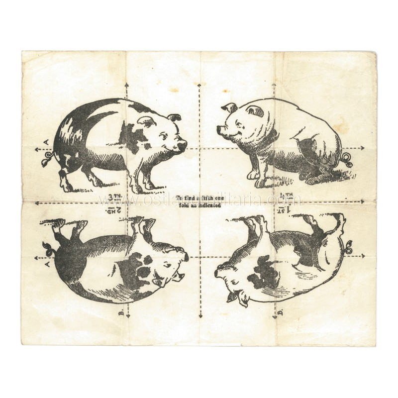 "Anti-German propaganda fold up puzzle ""Find the 5th pig"" Other countries"