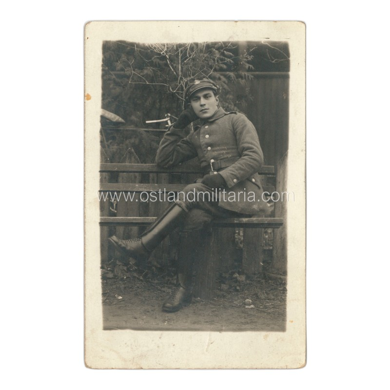 Postcard size photo of Polish Army soldier. Vilnius under Polish control Other countries