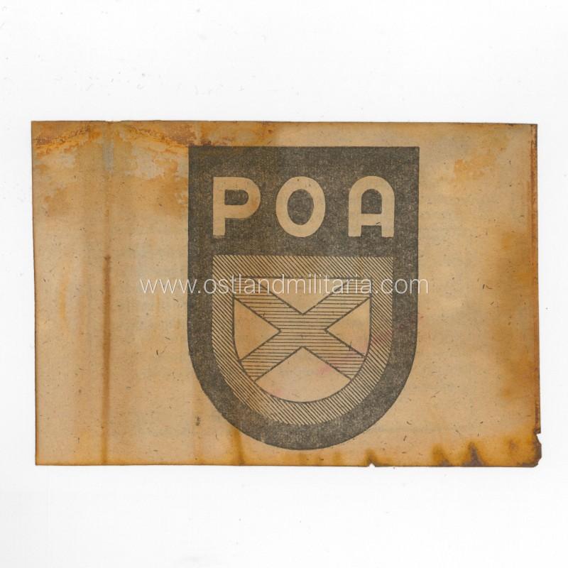 German propaganda leaflet with POA sleeve shield Germany 1933–1945