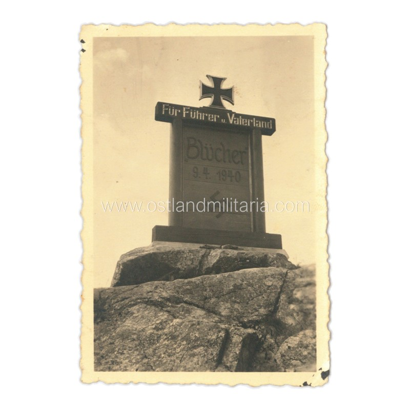 Photo of the Memorial to the sunken Heavy Cruiser Blücher Germany 1933–1945