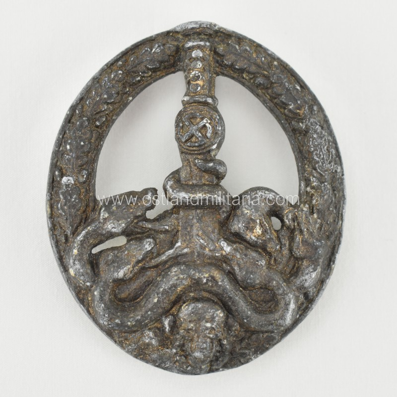 Bronze Anti-Partisan Badge, C.E. Juncker Type 3.1