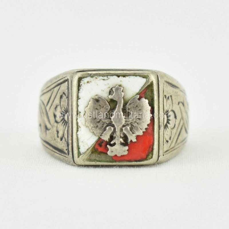 Polish patriotic ring. 1942