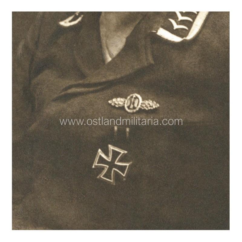 LW Feldwebel portrait photo, Day Fighter Clasp Germany 1933–1945