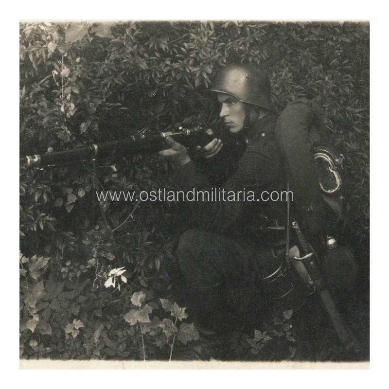 Lithuanian army soldier with a rifle and equipment, 1935  Lithuania