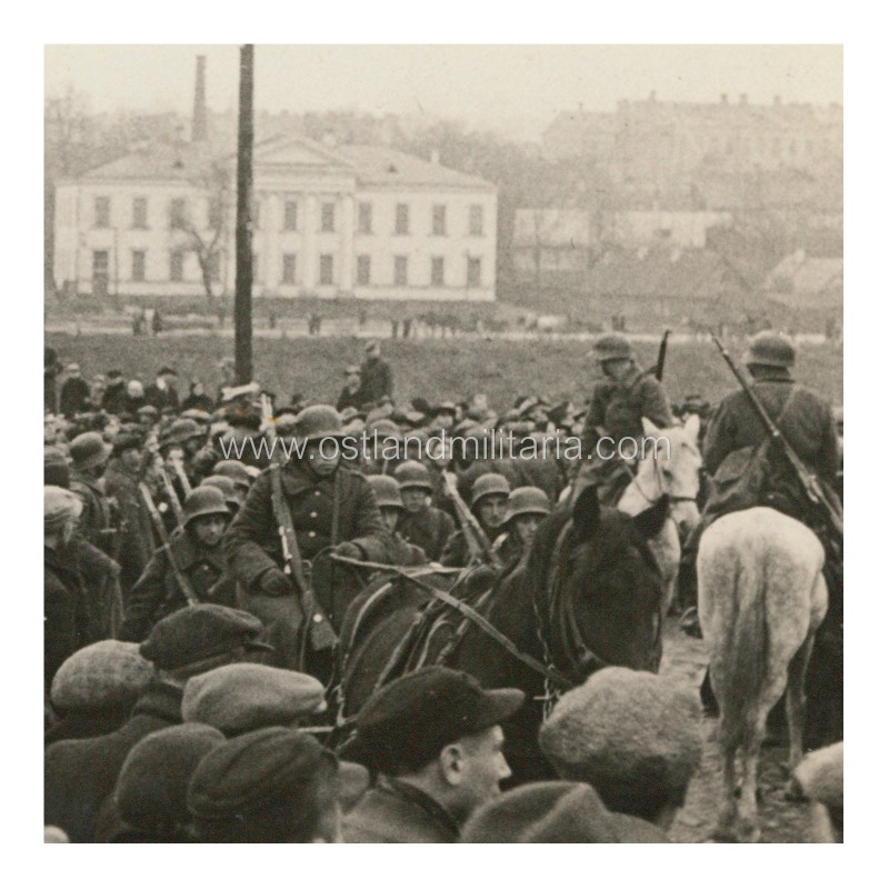 Photo of Lithuanian army entering Vilnius on October 28, 1939 Lithuania
