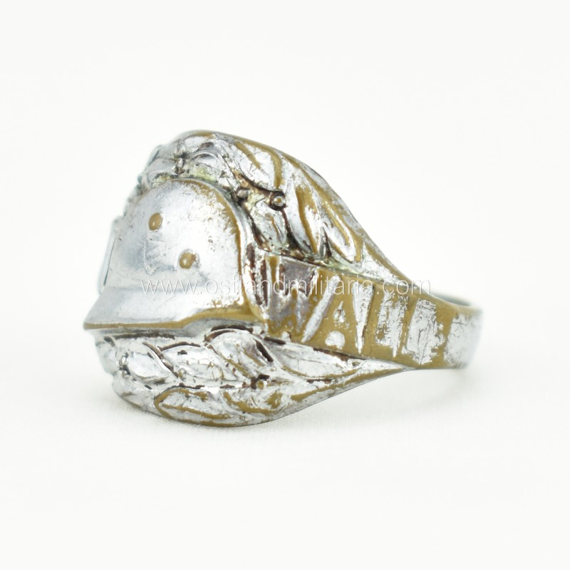 Westwall ring with a helmet Germany 1933–1945