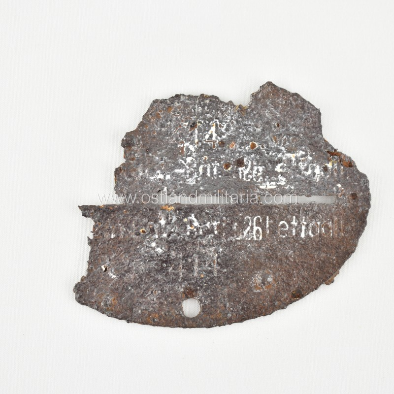 Latvian construction batallion 326 dog tag - Schut...