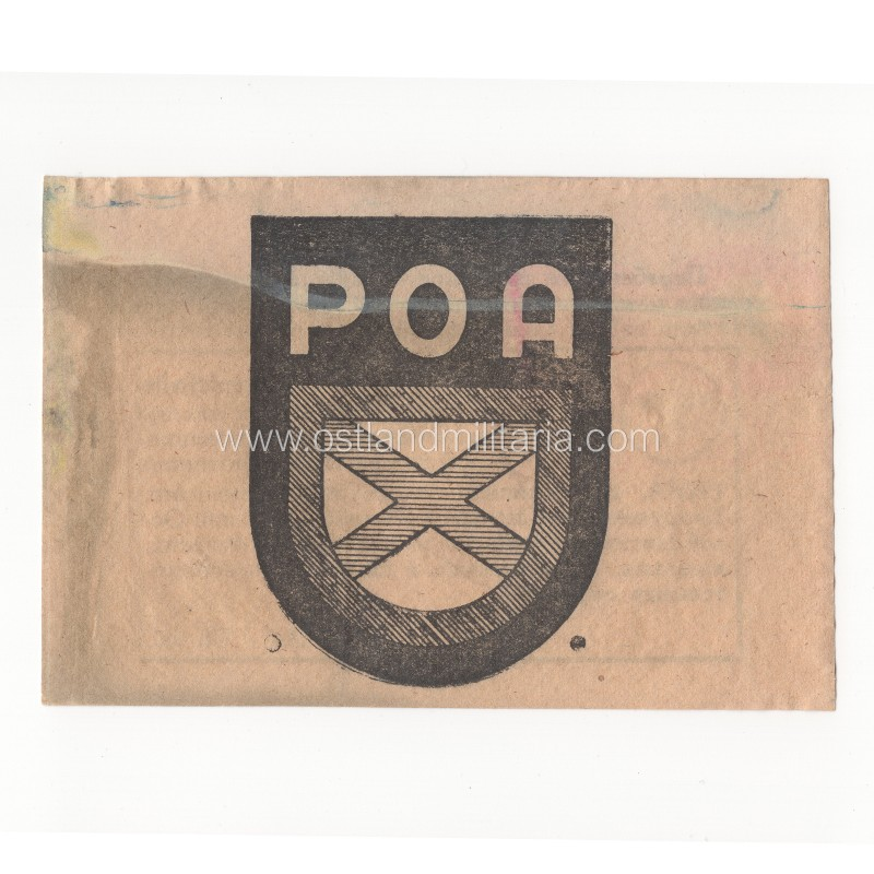 German propaganda leaflet with POA sleeve shield Germany 1933–1945