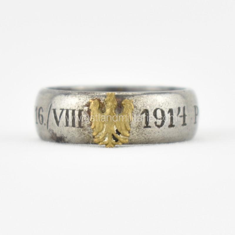 Polish patriotic ring 'POLSKIE LEGIONY 16. VIII 19...