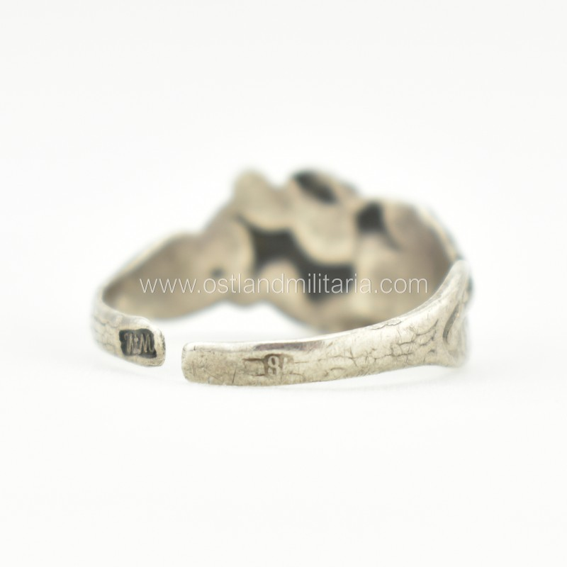 Silver ring with three naked women, Russian Empire Russia