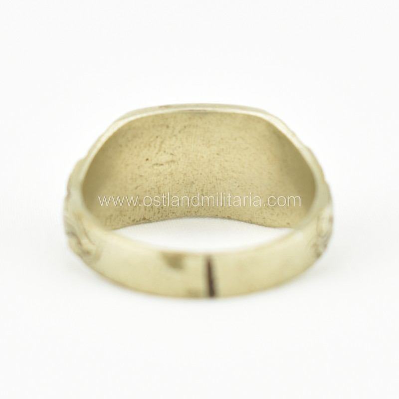 Westwall ring with oak leaf motif, rare Germany 1933–1945