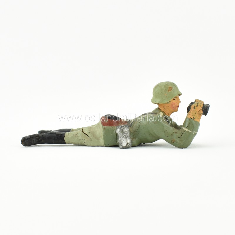 German Elastolin toy soldier with binoculars Germany 1933–1945