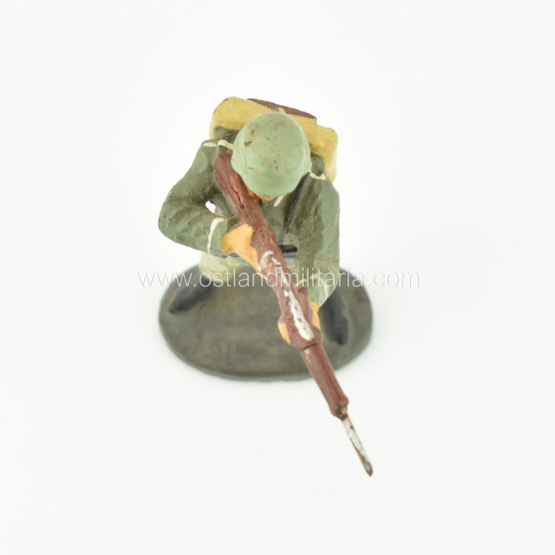 German Elastolin toy soldier with a rifle, standing shooting position Germany 1933–1945