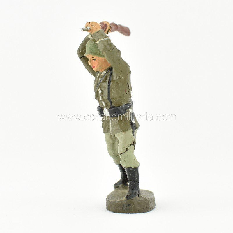 German Elastolin toy soldier with a rifle, hand-to-hand combat Germany 1933–1945