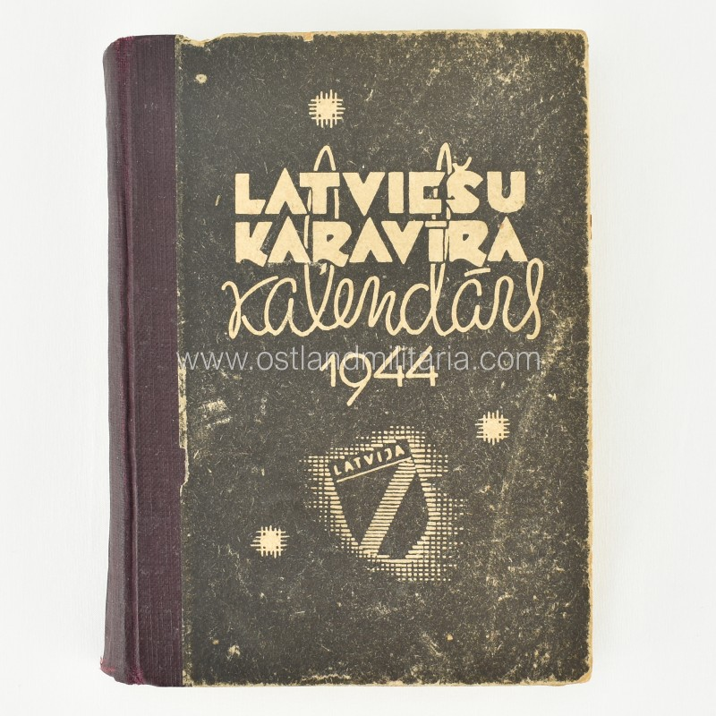 Latvių SS legionieriaus kišeninis kalendorius Vokietija 1933–1945 m.
