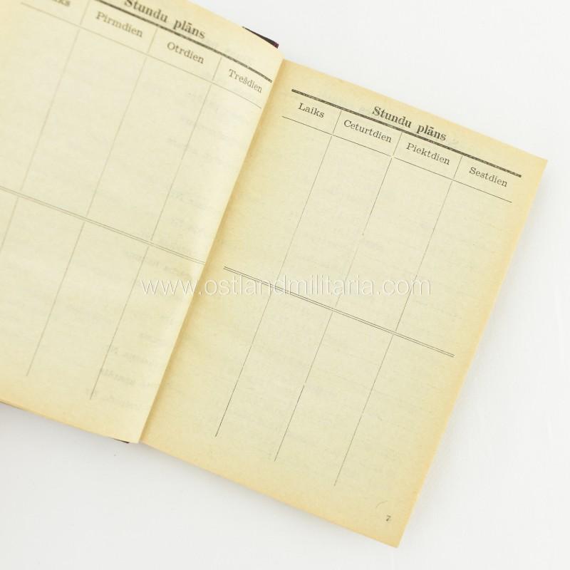 Latvian SS legionnaire pocket calendar Germany 1933–1945