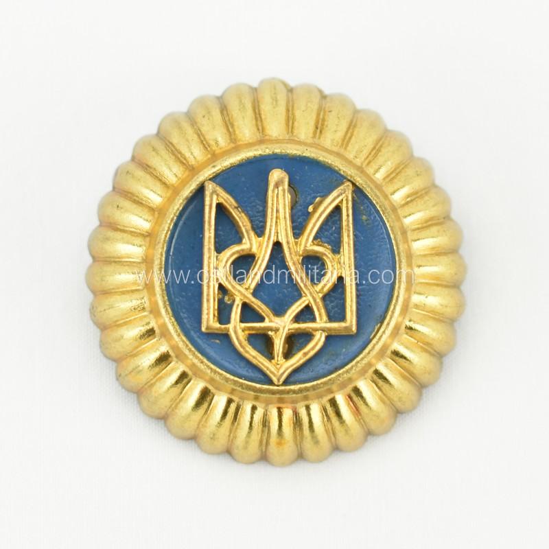 Ukrainian trident cap badge, Schuma and UNA Germany 1933–1945