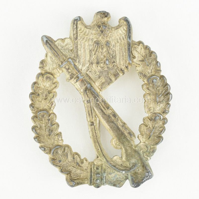 Infantry assault badge in silver by Unknown manufacturer Germany 1933–1945