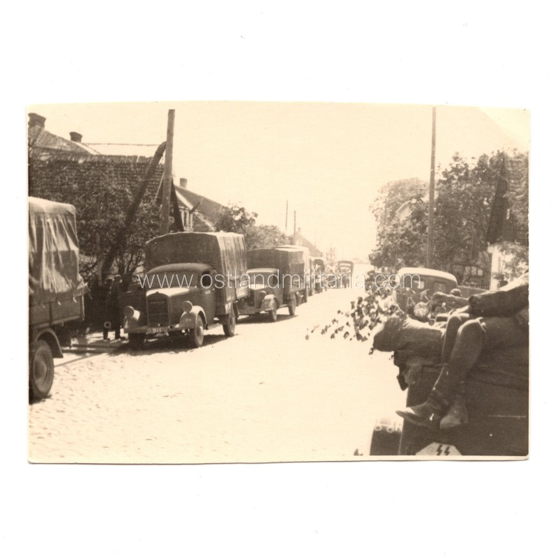 Photo of SS unit vehicles in Lithuania Germany 1933–1945
