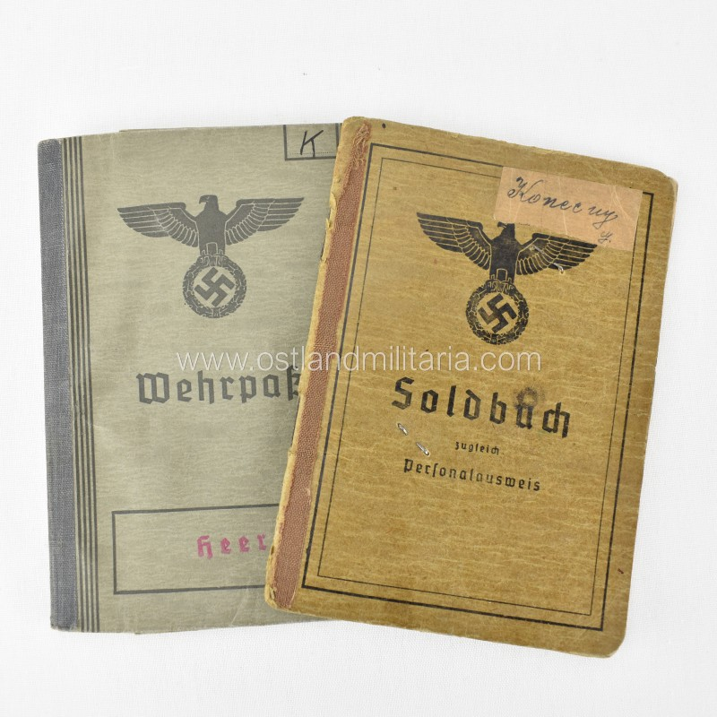Heer soldbuch, wehrpass and set of documents to Uffz. Germany 1933–1945