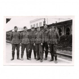 Photo of German Army at Vilnius Railway Station, Lithuania