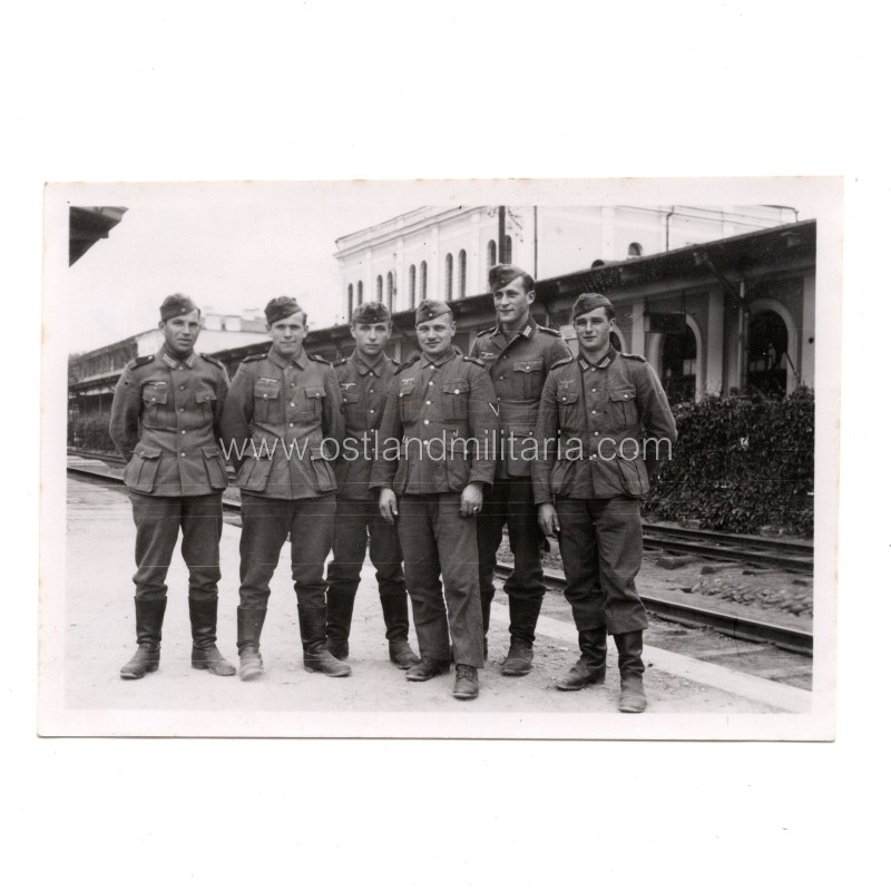 Photo of German Army at Vilnius Railway Station, Lithuania Germany 1933–1945