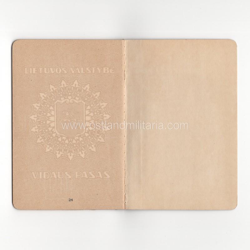 Lithuanian passport, 1930-ies Lithuania