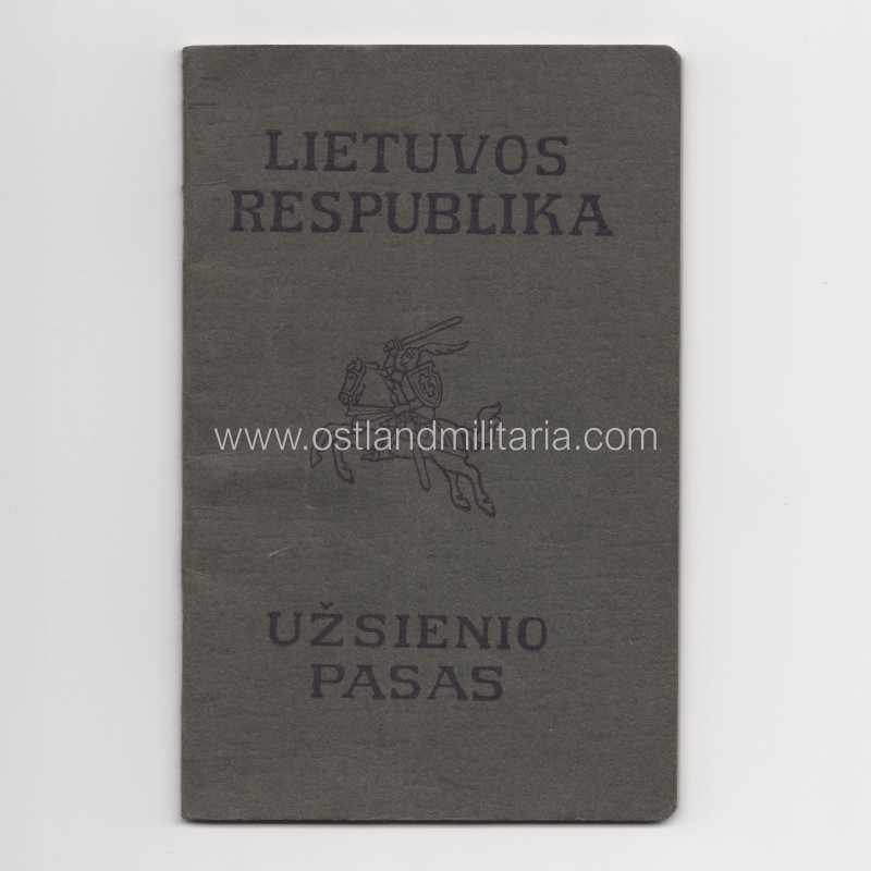 Tourist passport, Republic of Lithuania, 1930-ies Lithuania