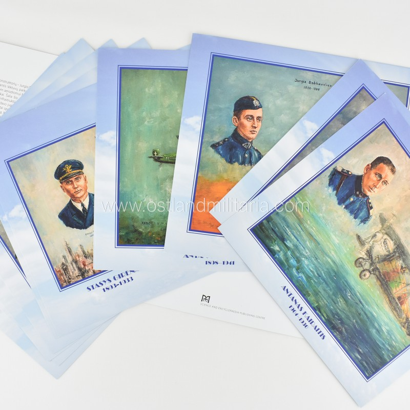 The Military pilots of Interwar Lithuania. Set of bilingual cards Books
