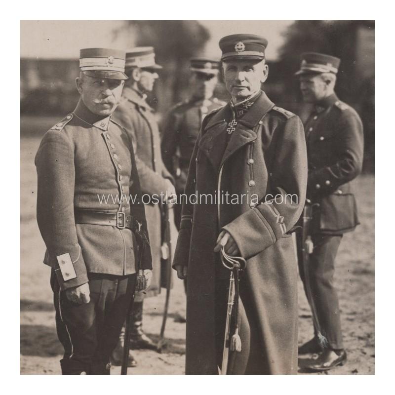 Photo of General S. Žukauskas and Colonel P.  Jackevičius Lithuania