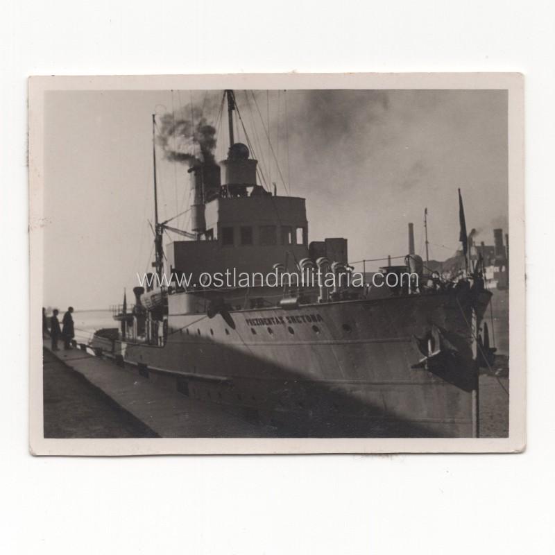 """Photo of warship """"Prezidentas Smetona"""", 1927-1939 Lithuania"""