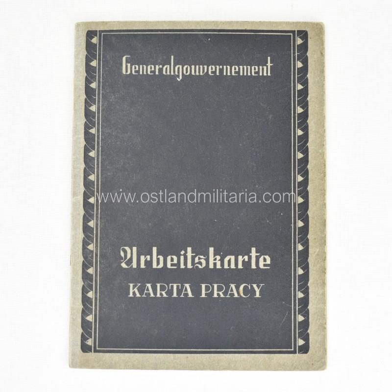 Generalgubernijos darbo kortelė Vokietija 1933–1945 m.