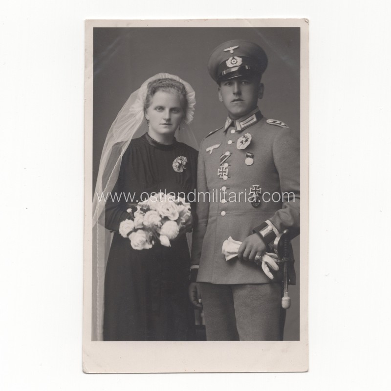 Photo of German Army soldier with TK ring, 1942 Germany 1933–1945