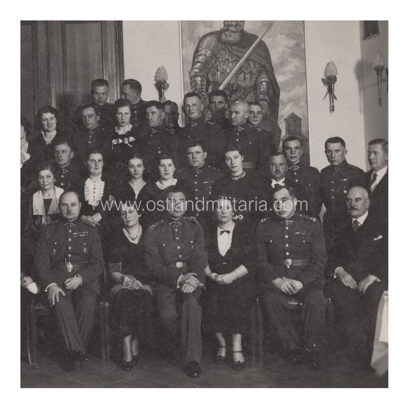 Photo of officers and civil servants of Military Topographic Section of the General Staff Lithuania